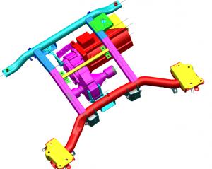 Motore/i elettrico accoppiato ad un riduttore-differenziale monomarcia